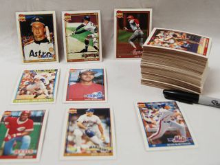 Collection of Baseball Cards   Bill long  Cubs  1990   Rafael Belliard  Pirrates 1988 and More  See Photos