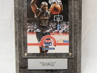Wood Plaque with  Shaq O Neal  Basketball  Collectible