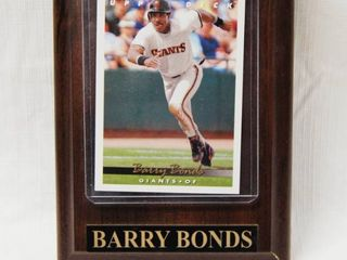 Wood Plaque with Barry Bonds  Baseball Collectible