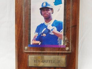 Wood Plaque with  Ken Griffey Jr  Baseball Collectible