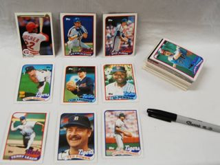 Collection of Baseball Cards  Giants  Detroit and More  See Photos