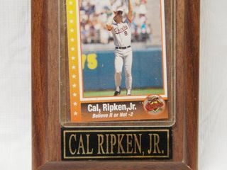 Wood Plaque with  Call Ripken Jr  Orioles Baseball Collectible