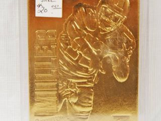 Collectible  Action Packed 24kt Gold  Football Card   Chris Miller  12  QB  Atlanta Falcons  In Plastic Holder