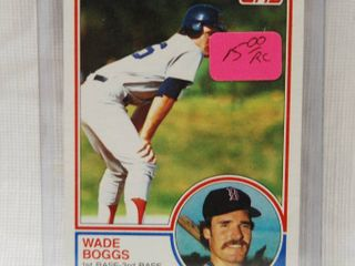 1983 Topps Baseball Rookie Card  498 Wade Boggs   Red Sox