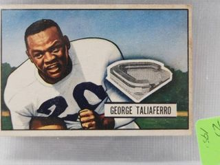 1951 Bowman   8 George Taliaferro   New York Yanks   George was the first African American player to be drafted by any NFl team in the history of the league