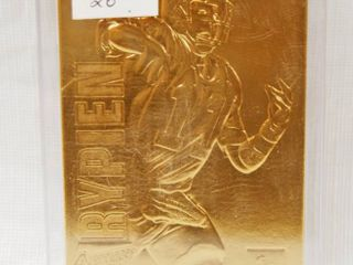 Collectible  Action Packed 24kt Gold  Football Card  Mark Rypien  11   QB   Washington Redskins   In Plastic Holder