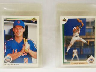 Collectible Baseball Cards  Both    Gregg Jefferies    Mets