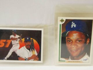 Collectible Baseball Cards  1990  Fielders Feat  and  Darryl Strawberry    Dodgers