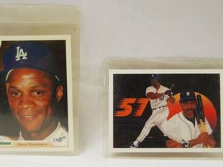 Collectible Baseball Cards   Darryl Strawberry  Dodgers and 1990  Fielder s Feat