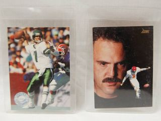 Collectible Football Cards   Ken O Brien  New York Jets  and  Nick lowery  KANSAS CITY CHIEFS