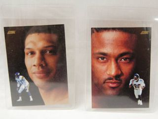 Collectible Football Cards   Joey Browner  1991   Minnesota Vikings and  Andre Rison  1991 Atlanta Falcons