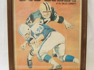 Collectible Picture w Frame  Bob lilly  of the Dallas Cowboys Very Cool