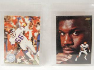 Collectible Football Cards   lawrence Taylor  1991   New York Giants and  David Fulcher  1991   Cincinnati Bengals