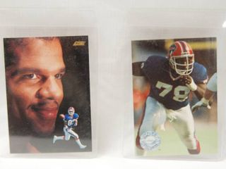 Collectible Football Cards   Andre Reed  1991   Buffalo Bills and  Bruce Smith   1991 Buffalo Bills