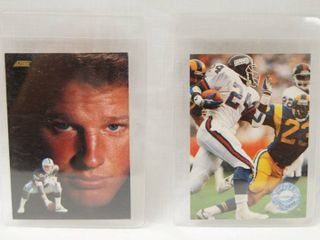 Collection of Football Cards    Don Mosebar  1991   los Angeles Raiders and  Ottis Anderson  1991   New York Giants