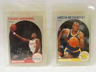 Collectible Basketball Cards   Danny Manning  los Anglers Clippers     Mitch Richmond  Golden State Warriors  1990 Cards