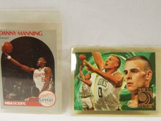 Collectible Basketball Cards   Danny Manning  los Angeles Clippers  1990    Eric Montross  Boston Celtics  1995 Card