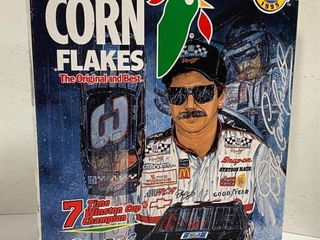 Box of Kellogg s Corn Flakes   DAlE EARNHARDT   7 Time Winston Cup Champion