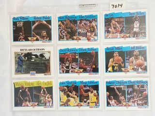 Early 90 s Dual Player Basketball Cards   Moses Malone   Robinson   Rodman   Miller