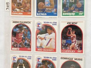 1989 All Star   Player Basketball Cards   Olajuwon   Monlone   Dominique Wilkins   Isiah Thomas