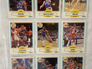 Vintage Basketball Cards   Golden State and Houston   30 Years Old