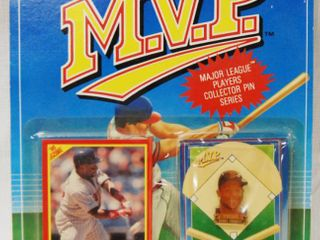 Collectible M V P  Major league Players Card and Collector Pin  Kirby Puckett  Minnesota Twins  In Original Package