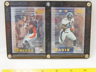 Collectible Plaque with  Brian Griese  Denver Broncos  and  Terrell Davis  Denver Broncos  leaf 99 Certified