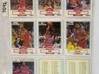 Vintage Basketball Cards   Bullets   Jazz   Check lists For This Set