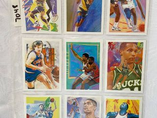 Vintage 1990 NBA Hoops Basketball Cards   Team Check Off Cards From This Set