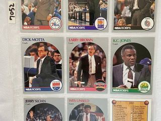 Vintage 1990 NBA Hoops Basketball Cards   Coaches   Check list