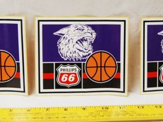 3 Phillips 66   K State Wildcats Basketball Stickers