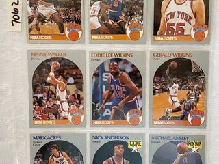 Vintage 1990 NBA Hoops Basketball Cards   Anderson RC   Ansley RC   Wilkins   Oakley