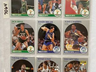 Vintage 1990 NBA Hoops Basketball Cards   Gervin RC   Blaylock RC   Richardson RC