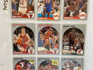 Vintage 1990 NBA Hoops Basketball Cards   Glen Rice RC   Brown RC   Perdue