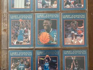 12 Card Set   1992 ROOKIE OF THE YEAR   larry Johnson   Vintage Cards
