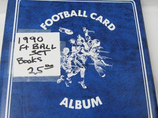 Collectible 1990 Football Cards in Album  See Photos for Pics