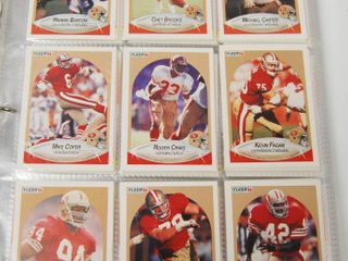 Collection of 1990 Fleer Football Cards  Misc  See Photos