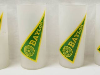 lot of 4 Baylor Glasses  Collectible
