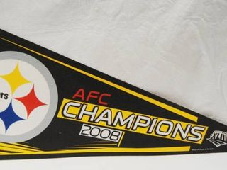 Pittsburgh Steelers Football Banner  AFC Champion 2008