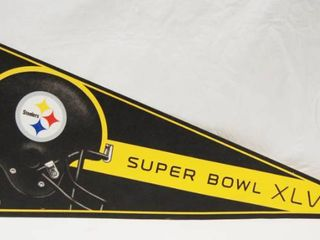 Pittsburgh Steelers Football Champion Banner  Super Bowl XlV  2010