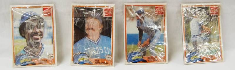 lot of 4  Still in Original Plastic  Collectible Baseball Trading Cards  1981 Topps  Kansas City Royals