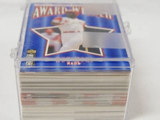 lot of Collectible Baseball Cards  w  Plastic Holder  See Photos