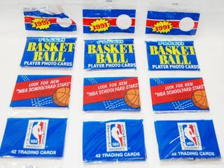 lot of 3  Still in Original Plastic  1991 Basketball Player Collectible Photo Cards
