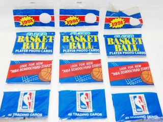 lot of 3 Basketball Packages  In Original Packages  1991  Player Photo Trading Cards