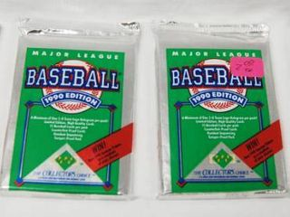 lot of 4  Major league Baseball 1990 Edition  Collectors Choice   Still in Original Packaging