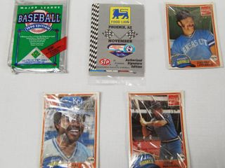 lot of 5 Sports Card Packages  See Photos for Pics   Still in Original Packaging