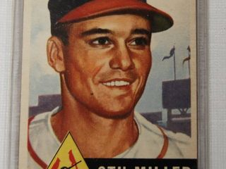 1953 Topps Stu Miller RC  183 St  louis Cardinals  Collectible Baseball Card in Plastic   Pitcher