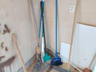 Axe  Rakes and Brooms