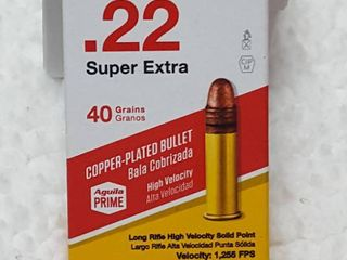 50 ct   22 super extra bullets  40 gr