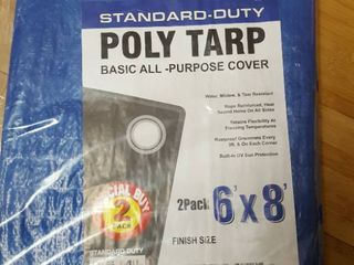 2 pack 6  x 8  poly tarps